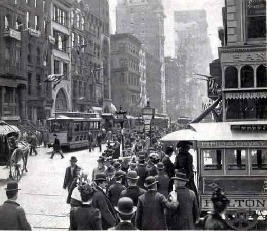 Lower Brodway 1899.