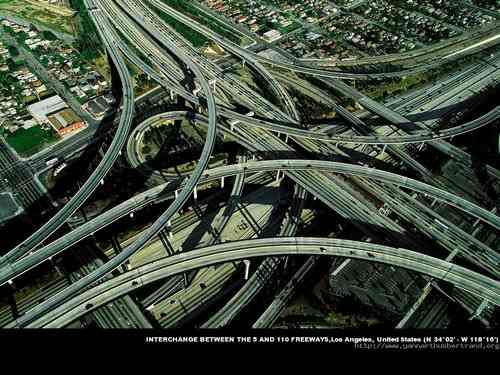 Interchange between the 5 and 110 Freeways, Los Angeles