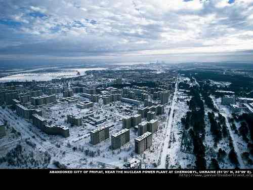 Abandoned city of pripiat, near the nuclear power plant at Chernobyl, Ukraine