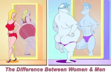 funyn mirror difference between women and men