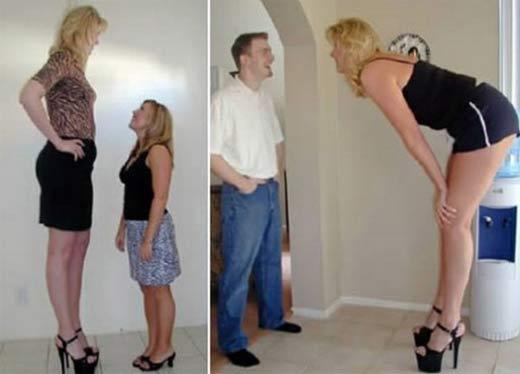 tall woman, girl