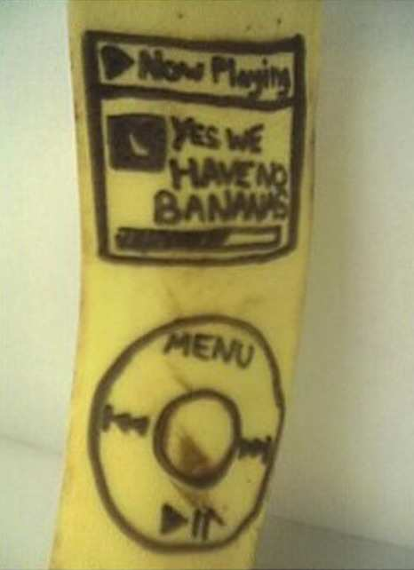 funny banana ipod