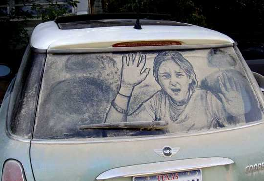 dirty car art