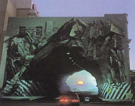 3d illusion art car wall