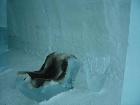 ice hotel chair