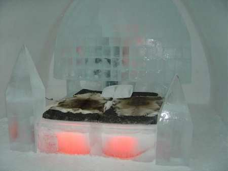 ice hotel bed
