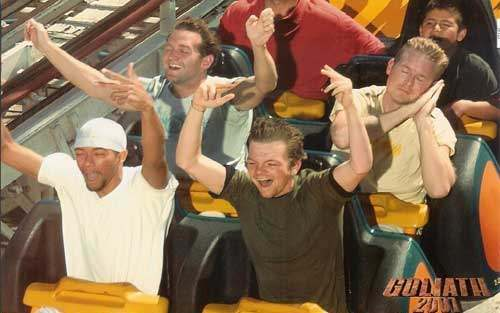 crazy funny roller coaster photo