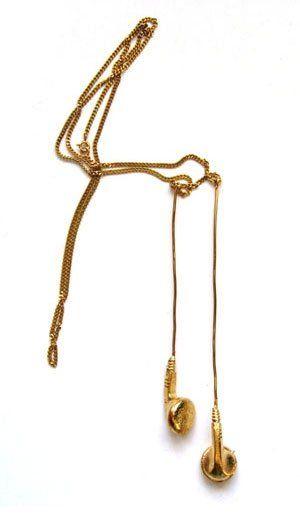 Golden Headset Necklace