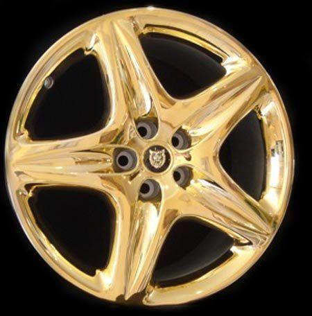 Golden Car Rim