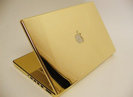 Golden Macbook Laptop Notebook