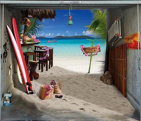 cool garage door poster
