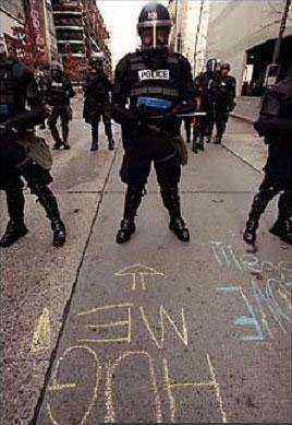 funny riot police hug me