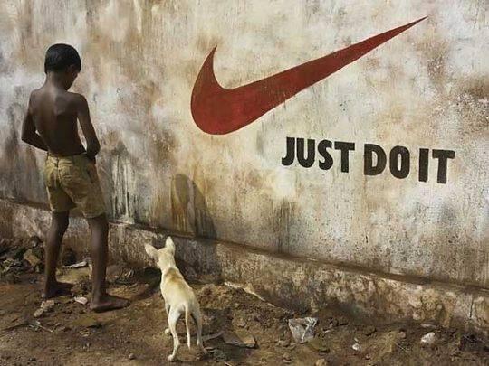 brand irony nike just do it