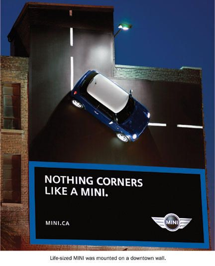 creative funny billboards mini car