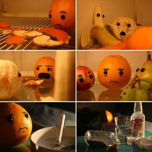funny orange