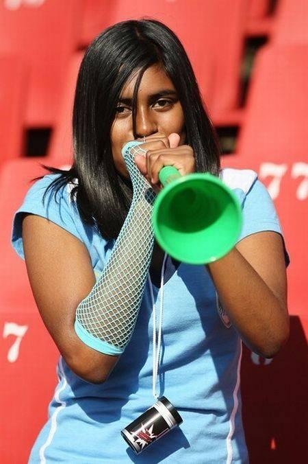 vuvuzela girl word cup