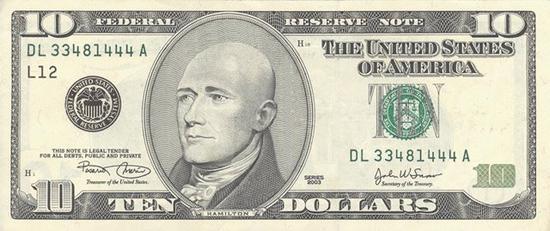 bald 10 dollar