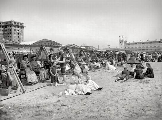 beach in the past