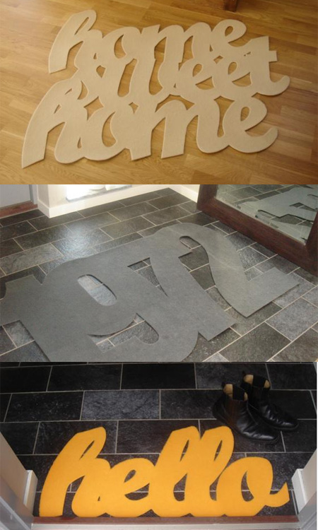 creative rug and doormat