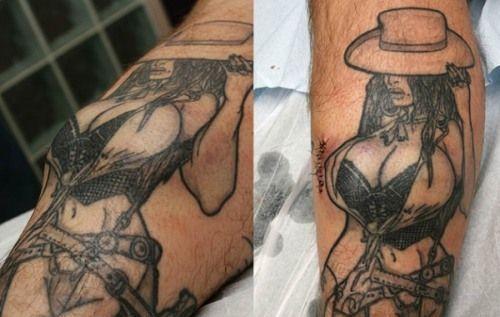 34 breasts tattoo