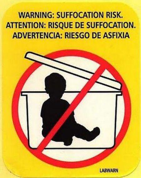 stupid warnign label