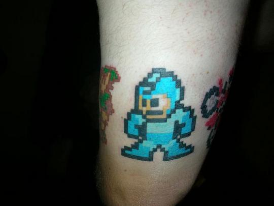 crazy video game tattoo
