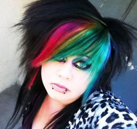 Sexy Rainbow Haired Girls Nuffy