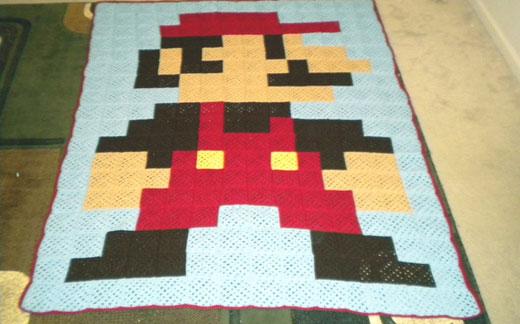 8-Bit Mario Square Blanket